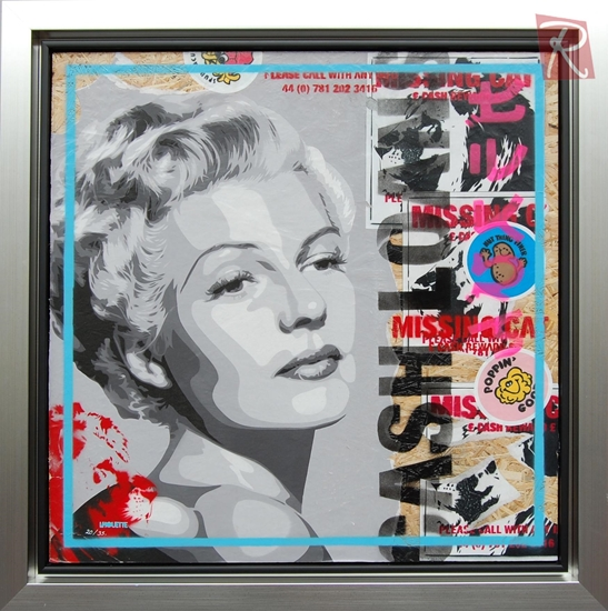 Picture of Rita - Mixed Media Paste Up - Deluxe Frame