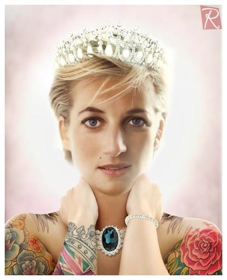 Picture of Lady Diana Tattoo