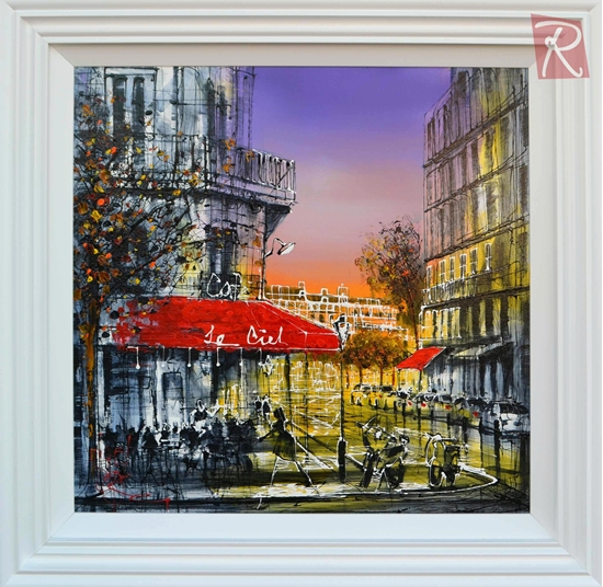 Picture of Parisian Cafe at Night