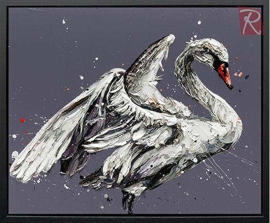 Picture of John The Swan - Canvas