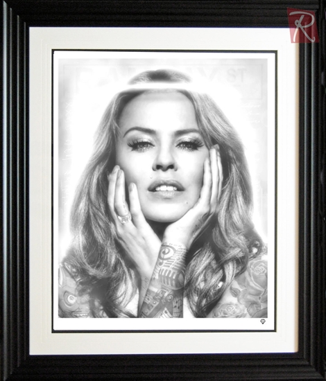 Picture of Kylie Minogue- Black and White