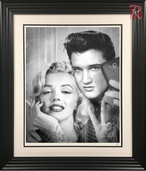 Picture of Elvis and Marilyn Photobooth